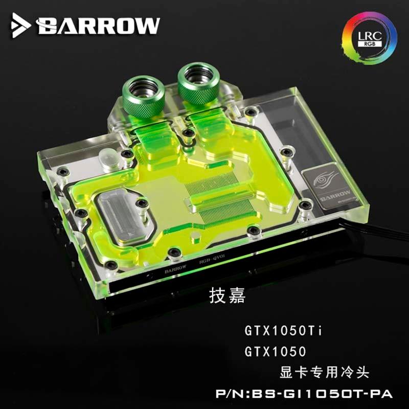 Tinchan Barrow GPU bloque de agua para GIGABYTE GTX1050Ti/1050 GPU BS-GI1050T-PA