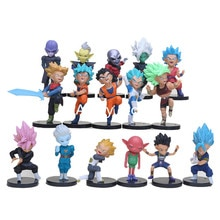 16 pièces/ensemble Dragon Ball Super 7 cm Chikara pas Taikai Son Goku végéta troncs Hitto Cabba Jiren Goku noir Zamasu figurine jouets