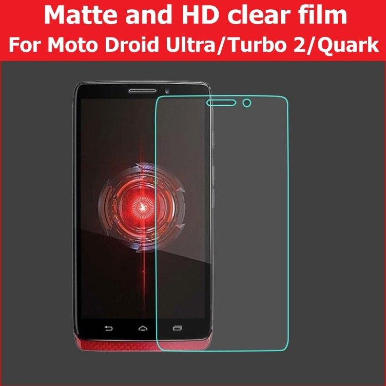Película brillante HD para Motorola Droid Turbo 2 película mate para Moto Turbo xt1254 película de pantalla LCD de Quark para moto Ultra xt1080