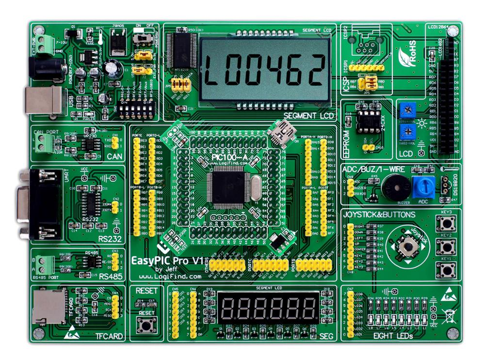 لوحة تطوير تعلم easyPIC Pro, dsPIC PIC32 PIC24 مع dsPIC33FJ256MC710A
