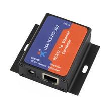 Q18041 USR-TCP232-302 taille minuscule série RS232 à Ethernet TCP IP serveur Module Ethernet convertisseur prise en charge DHCP/DNS, 200 mis à niveau