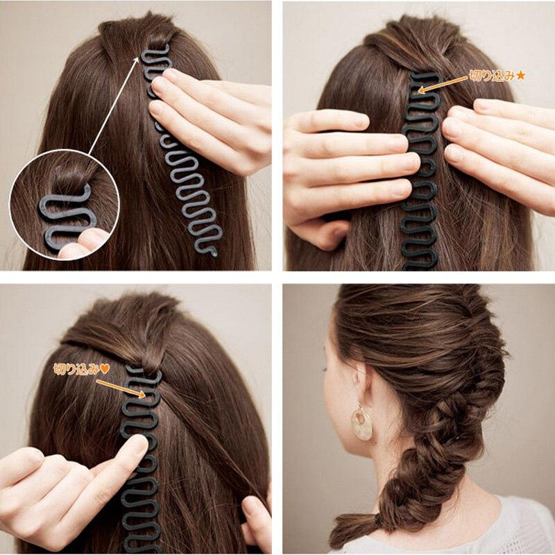 Женские Элегантные ободки для волос, 3 шт., черные, коричневые, пластиковые инструменты для самостоятельного изготовления, набор аксессуаров для волос