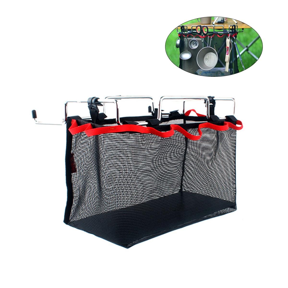 Сетчатый мешок для хранения вещей, сетчатый мешок для хранения для пикника, кемпинга, кухни, складной стол, подвесная сетка (S M L)