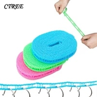 ctree nylon drying rack rope clothesline outdoor camping windproof rope 3 m 5 m wear resistant adjustable hook clothesline c764