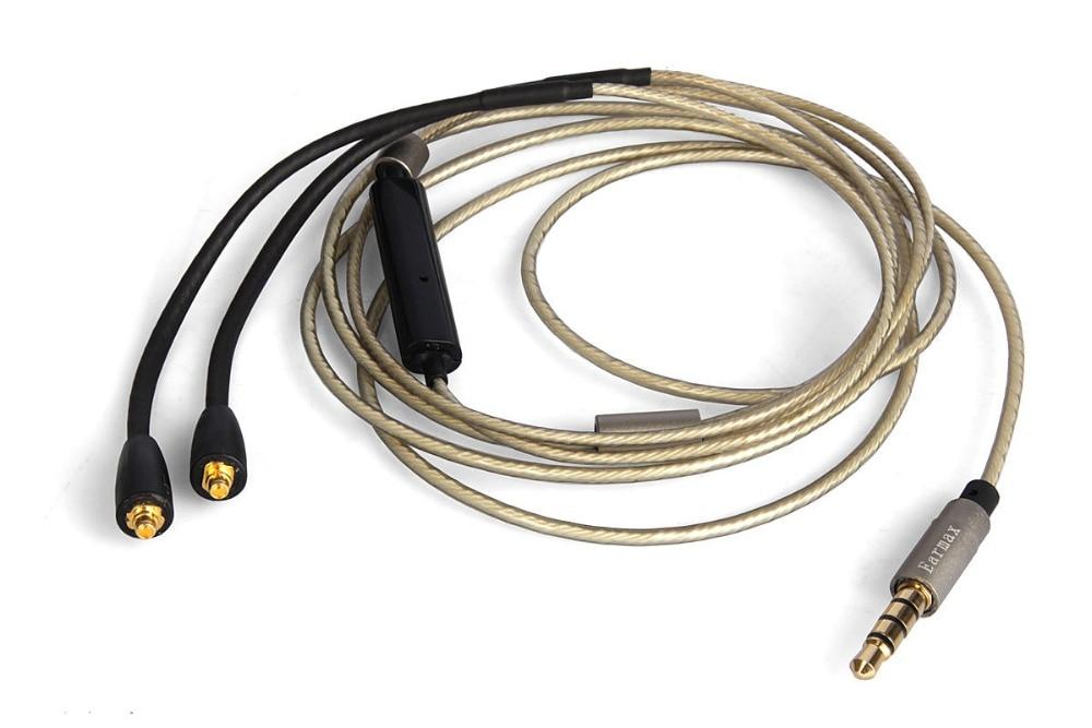 Cable de Audio plateado actualizado para la serie Westone esqueleto S10 S20...