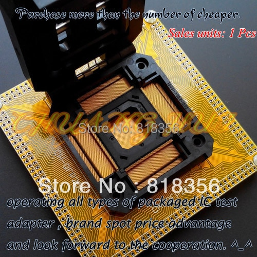 IC51-2564-1668-10 Test Socket TQFP256 QFP256 Test Socket IC Socket  Pitch:0.4mm