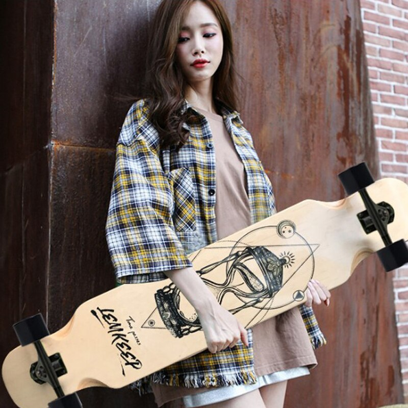 Маленький скейтборд 108 см, скейтборд для начинающих, скейтборд для взрослых, дорожный скейтборд, танцевальная доска, уличный длинный скейтб...