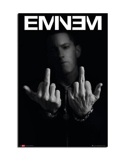 Eminem Dedos Do Meio Quadro Clássico Retro Imprime cartazes Cartaz Da Parede Papel De Parede Personalizado (20X30) home decor U1-676
