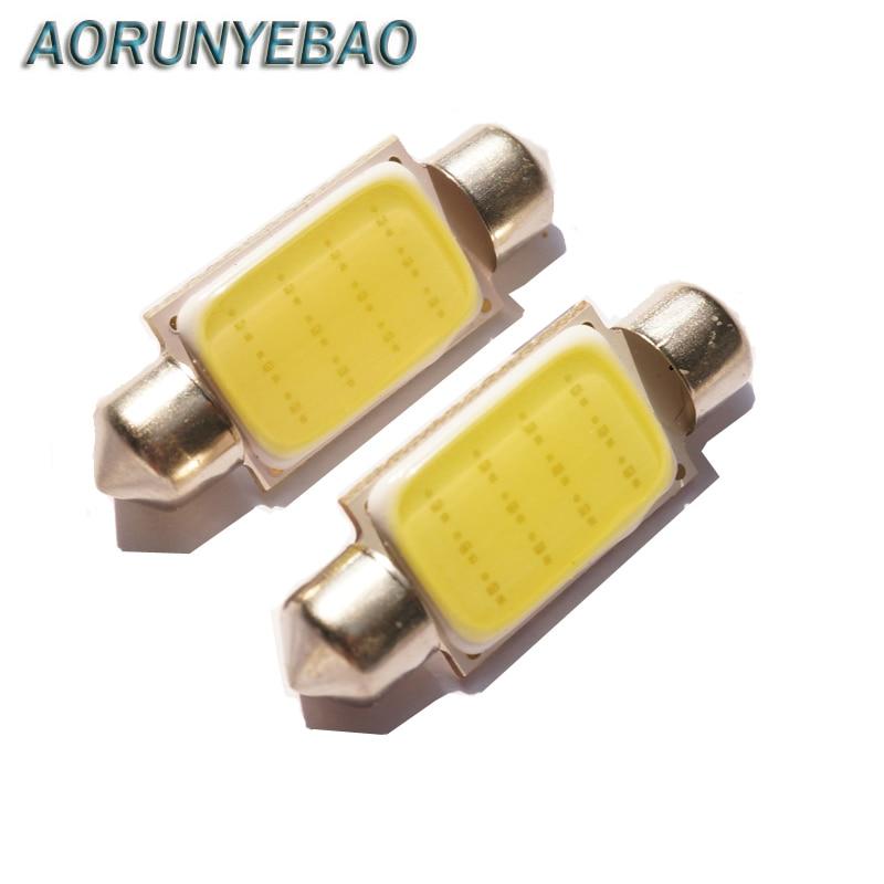 AORUNYEBAO 100 stücke C5W COB Auto Led-lampen 36mm 41mm 39mm 31mm auto Girlande Dome Lesen lichtquelle Weiß Seite Lizenz platte Lampe