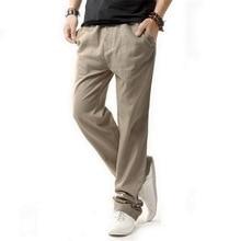 5XL Anti-microbien sain lin pantalon hommes 2019 été respirant Slim lin pantalon mâle garçons chanvre coton pantalons décontractés, BM001