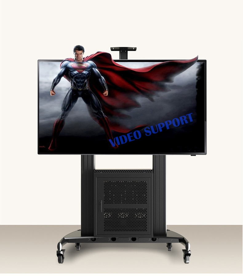 "Carrito de TV AVG1800-100-1P NB Estación de trabajo móvil de aluminio con gabinete G200 AV y AVT1800-100-1P de 60 ""-100"" Panel plano LED LCD TV"