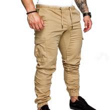 Męskie stylowe dorywczo kilka kieszeni długie spodnie spodnie z paskiem na kostce duże rozmiary XXXL długie spodnie SAN0