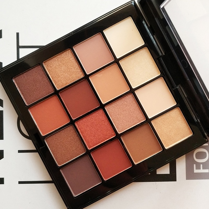2018New Marken Make-Up Lidschatten Kit Langlebigen Pigment Warmen Matt Shimmer Powder 16 Augen Schatten Farbpalette