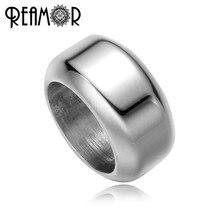 REAMOR Casting 8mm Silber Farbe Zylinder Perle 316L edelstahl Spacer Bead Fit Leder Armband Schmuck, Der 10 teile/los