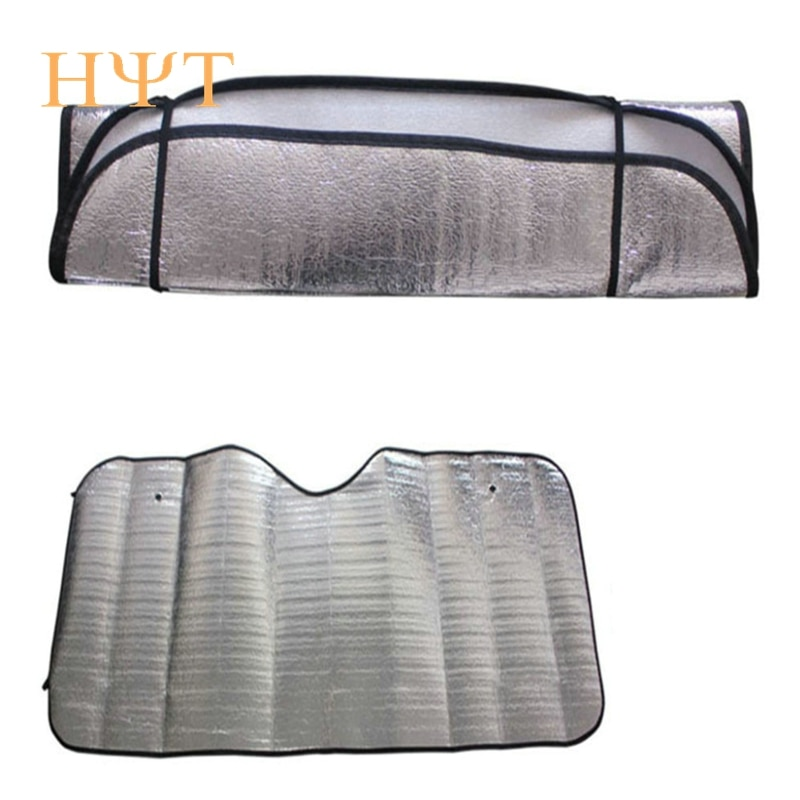 2018 New Hot 1Pc Casual Foldable Universal Car Windshield Visor Cover Front Rear Block Window Sun Shade Retail Wholesale