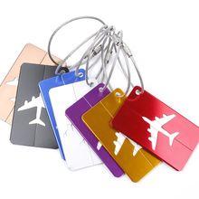 Bagages et sacs nouveauté en caoutchouc   Nouvelle valise de voyage Funky, étiquettes de bagages, adresse didentité, nom, livraison directe