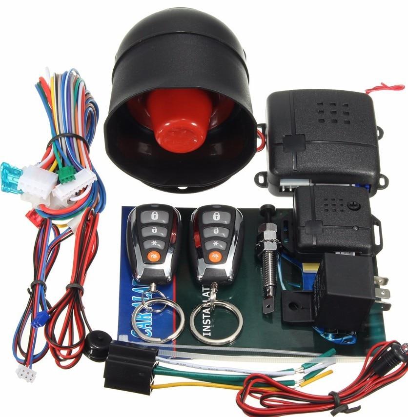 Para Toyota Auto entrada sin llave de sistema de alarma para coche de una manera Control remoto sirena y Sensor de puerta Central de bloqueo de seguridad