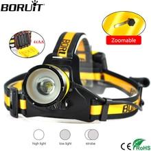 BORUiT B16 2000 lumens XM-L2 LED phare 3 modes Zoom phare IPX5 étanche tête torche Camping chasse lampe de poche AA batterie