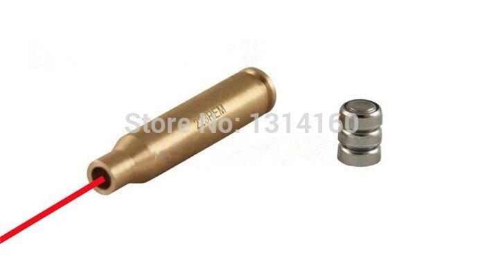 Caça CAL 223 Rem medidor Cartridge Laser Bore Sighter Boresight Red Dot ajuste de bronze para Shotgun