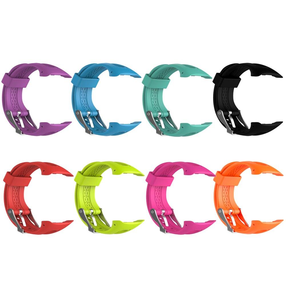 23 см силиконовый ремешок для часов Smartband Ремешки для наручных часов замена Смарт-браслет ремешок для мужчин для Garmin Forerunner 10/15