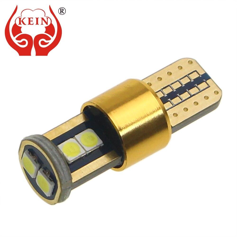 KEIN w5w светодиодные лампы t10 194 CANBUS супер яркий 3030 автомобильный светильник клиновидные боковые парковки интерьерные лампочки автомобиля сиг...