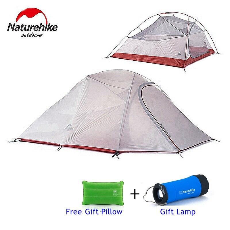 Палатка Naturehike, 1,8 кг, для 3 человек, 20D, силиконовая ткань, двухслойная, непромокаемая кемпинговая палатка NH, уличная палатка, 4 сезона
