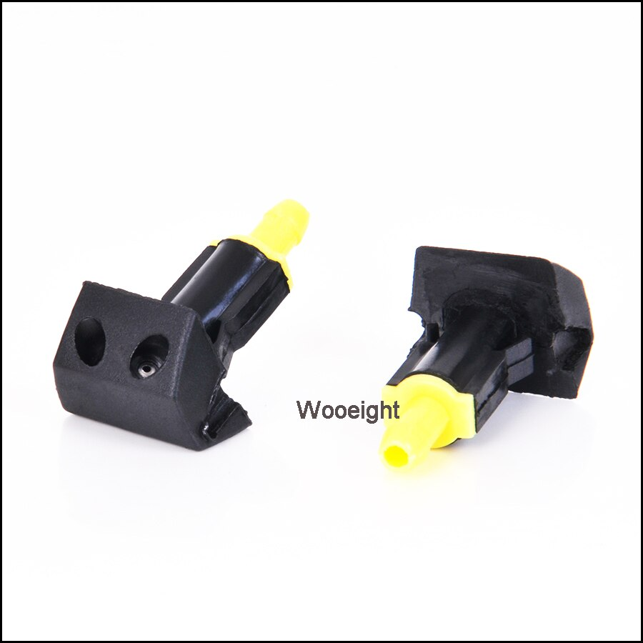 2Pcs Black Plastic Car Front Windshield Washer Wiper Water Spray Nozzle Fit For Nissan TIIDA SYLPHY