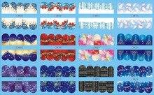UPRETTEGO 12 paquets/LOT NAIL ART beauté eau décalcomanie curseur ongle autocollant noël noël arbre lumières neige flocon BN205-216