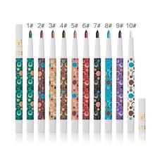 Marque Huamianli 10 couleurs peuvent choisir ombre à paupières Pigment Kit étanche miroitant mat fard à paupières crayon net 0.6g 10 pcs/lots
