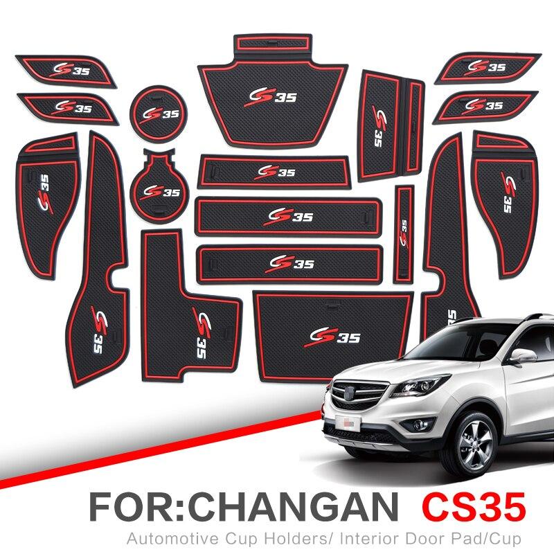 ZUNDUO alfombrilla para compartimento de puerta para CHANGAN CS35 2012-2019 esteras con surcos para puerta interior automotriz antideslizante esteras y polvo mat