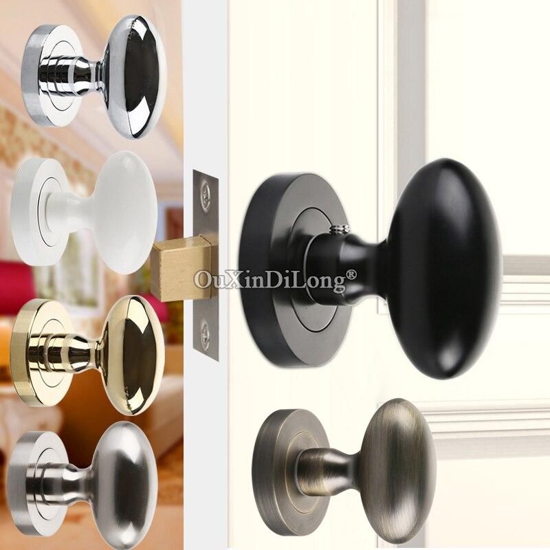 عالية الجودة سبائك الزنك خلفية الباب قفل الداخلية غير مرئية الخفية مقابض باب قفل نوم قفل دخول بدون مفتاح مقبض قفل
