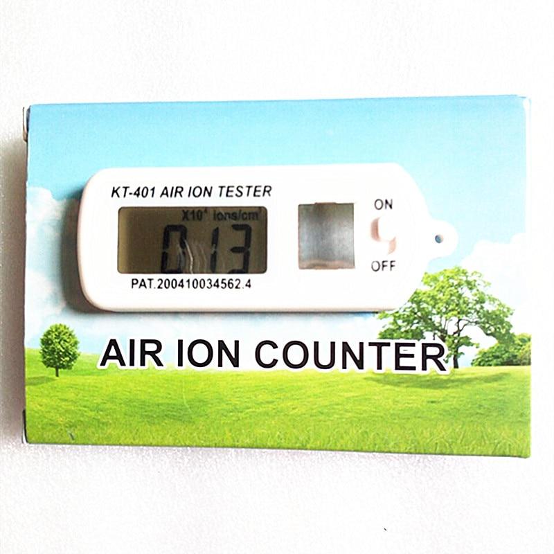 KT-401 الهواء ايرونيون اختبار أيون متر ايرونيون كاشف الأيونات السالبة تركيز أنيون الكشف عن السيارات لتنقية الهواء
