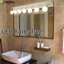 Moderne minimaliste miroir lumière lampes murales salle de bains LED applique salle de bains salle de bains salle de bains vestiaire dressing mur miroir éclairage E27