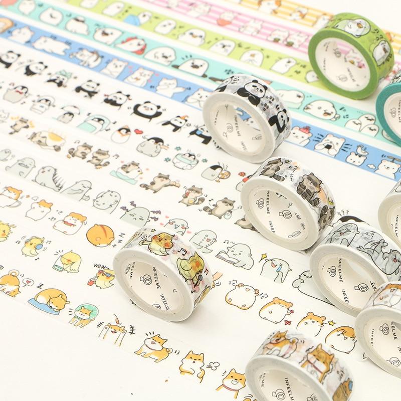 Adorable Animals Cats Washi Tape Decorative Adhesive Tape Diy Decor Scrapbooking Sticker Label Stationery