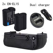 Meike poignée de batterie verticale pour Nikon D7100 D7200 comme MB-D15, double chargeur 2 * EN-EL15