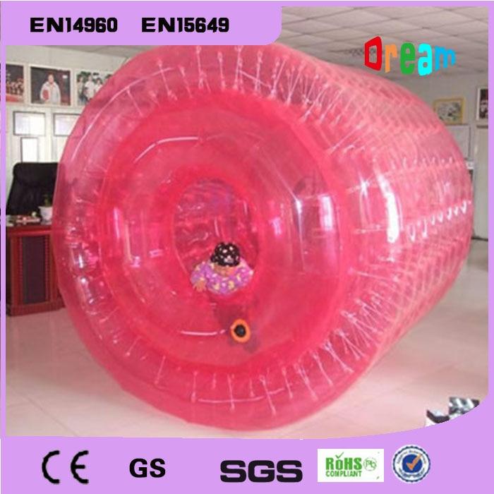 Envío Gratis PVC 2,2 m colorido bola inflable para caminar por el agua jugar equipos de agua Bola de rodillo de Aqua pelota