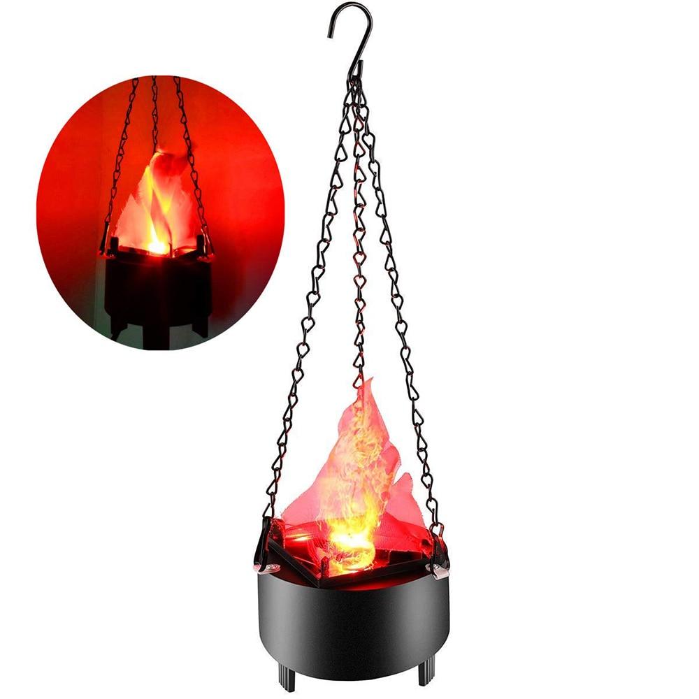 Electrónica LED colgante falso fuego Luz de efecto de Halloween Artificial 3D fogata lámpara para Navidad Festival Club de noche
