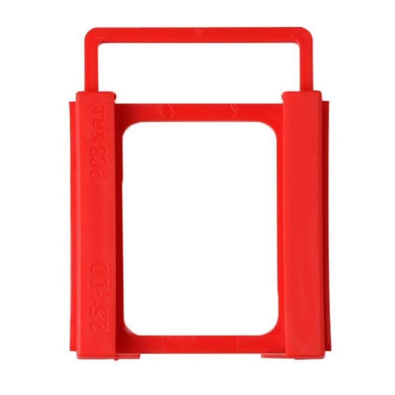 "2.5 ""a 3.5"" Unidade SSD HDD Notebook Hard Disk Montagem Titular Adapter Bracket Doca de Plástico para Computador PC caso Caddy gabinete"