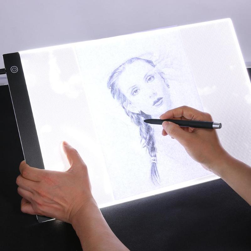 VKTECH A3 Brilho Regulável LED Tablet Gráfico Digital Caixa de Luz Pintura Desenho Placa de Escrita Placa Tracing Copiar Copiar Pad
