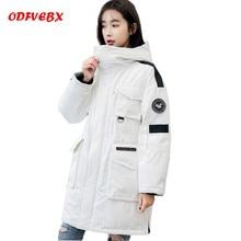 2020 nouveau hiver vestes femme mode moyen long en vrac blanc canard vers le bas veste femmes épaississement à capuche dames manteau marée ODFVEBX