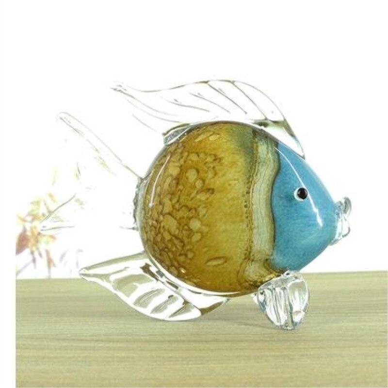 Glass fish crafts decoration, home creative modern desktop decorations
