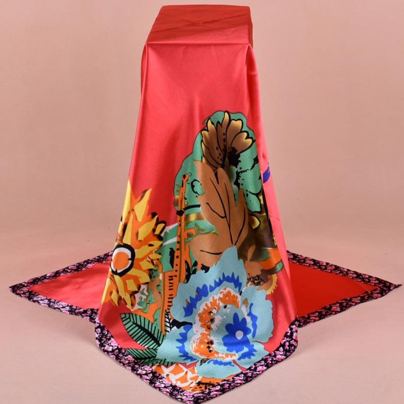Grande 90 cm Quadrado Cachecol sarongs Hijabs xale warp 90*90 Neckscarf cm 30 pc/lote #3673