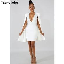 Tsuretobe New Autumn Pure Color Bodycon Dress Women And Fashion Cloak Elegant Female Tracksuit Beading Casual Dress Slim Dress