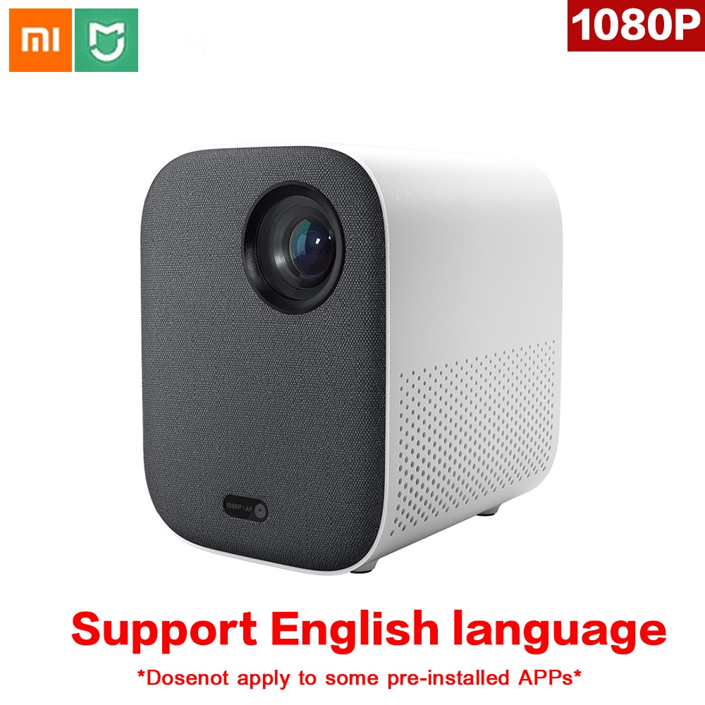 Original xiaomi mijia mini projetor dlp portátil 1080p suporte 4k vídeo 3d wifi 500 ansi led beamer tv hd completo para cinema em casa