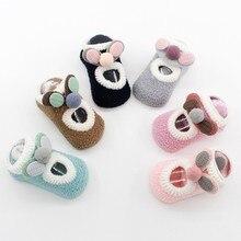 Hot Sale Baby Boys Girls Sock Infant Winter Leg Warmer Cotton Cartoon Socks Thicken Warm Anti Slip Floor Socks