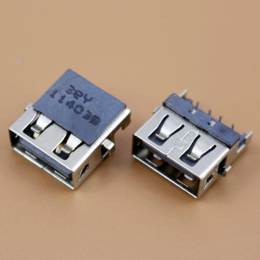 YuXi 1 unids/lote nuevo conector USB de la computadora portátil USB clavija para Lenovo E46A E46L HP G4 G6 G7 Samsung etc. Puerto USB 2,0 interfaz USB