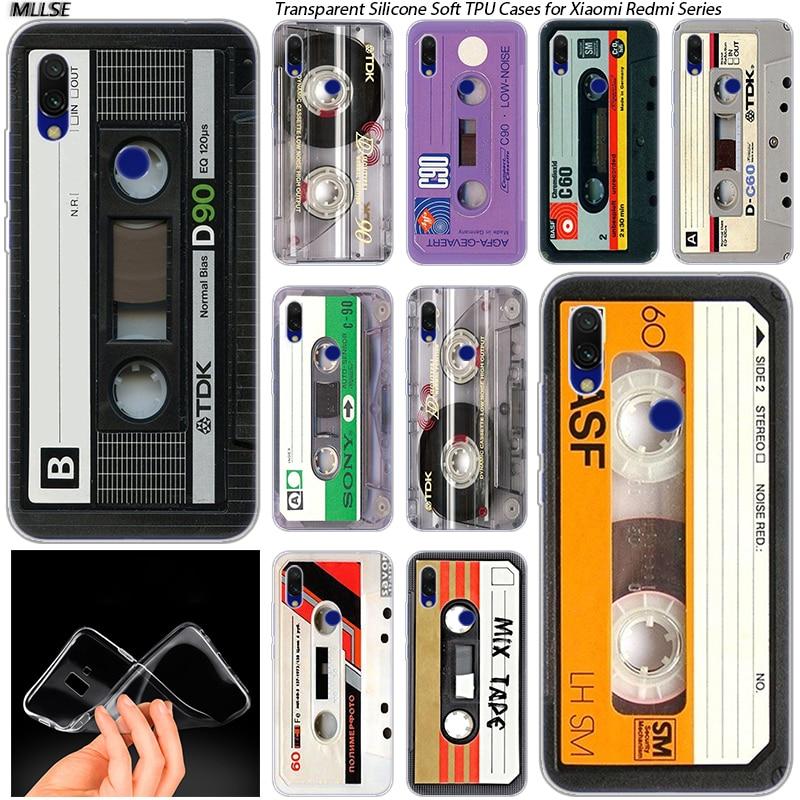 Classical Old Cassette Hot Silicone Case for Xiaomi Redmi K20 7 7A 5 5Plus 6 6A S2 Note 8 7 6 5 Pro Fashion Cover