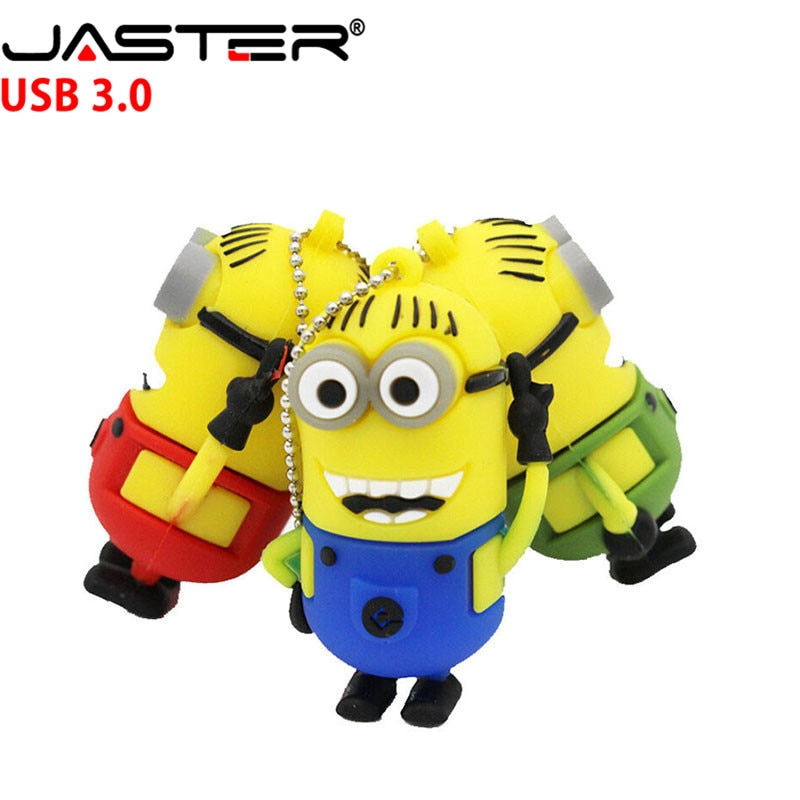 JASTER minions usb flash drive lindo Gru, mi villano favorito 2 USB 3,0 Pen Drive 1 gb 2gb 4gb 8gb 16 GB 32gb 64 gb lápiz de memoria de regalo pulgar