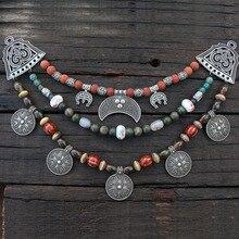 1 pièce livraison directe bijoux slaviques fabrication de breloques femmes pendentif, Style ethnique Viking broche boucle Lunula bijoux pour Cool hommes