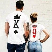 KONING KONINGIN Prinses t-shirt Vrouwen mannen crown print vogue t-shirt Casual Paar Lover shirt femme harajuku zomer tops Grafische tee